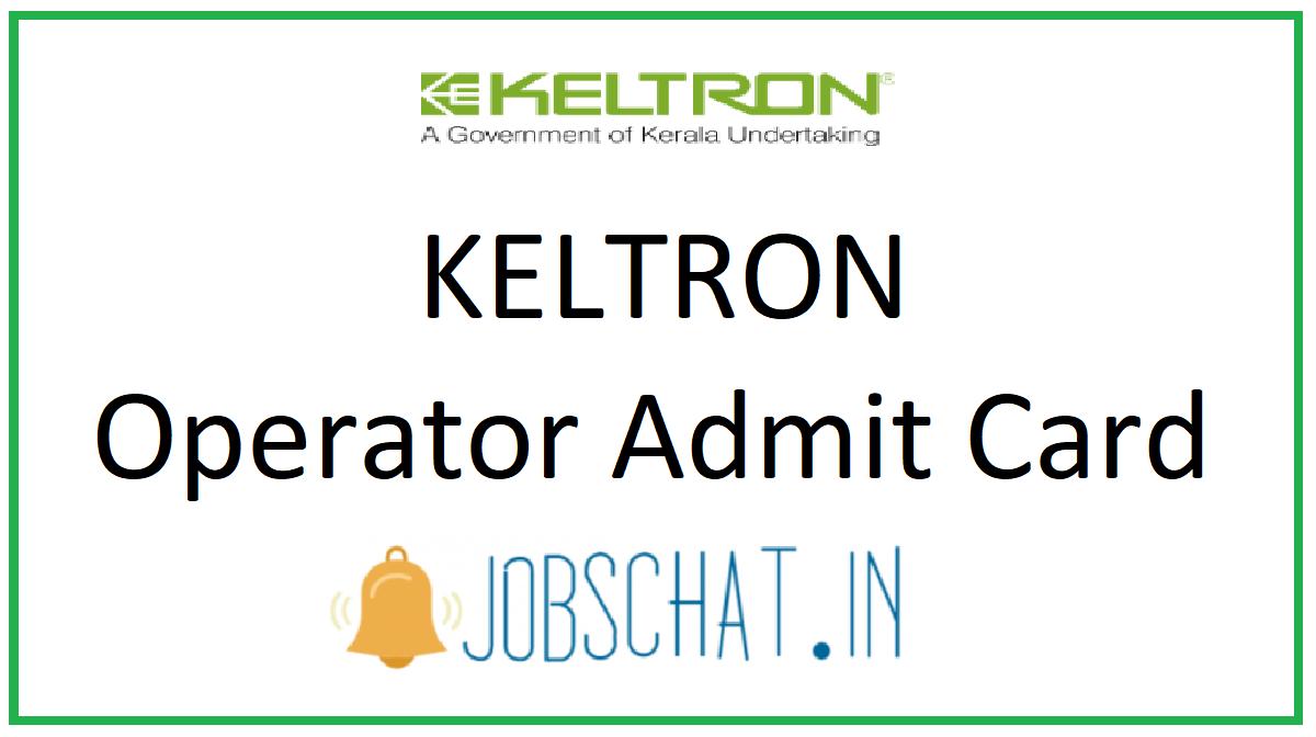 KELTRON Operator Admit Card
