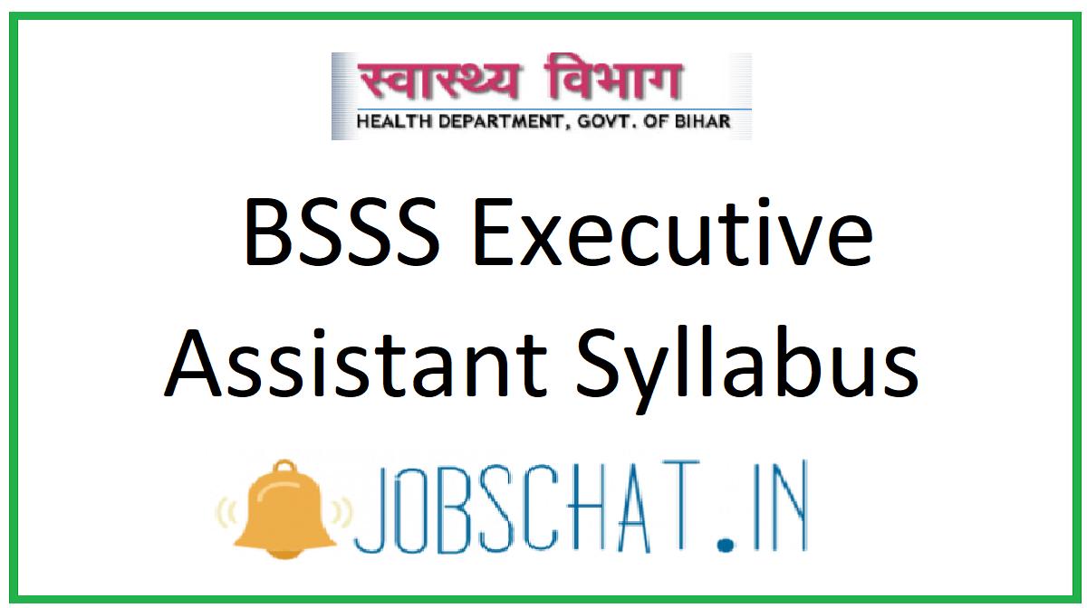 BSSS Executive Assistant Syllabus