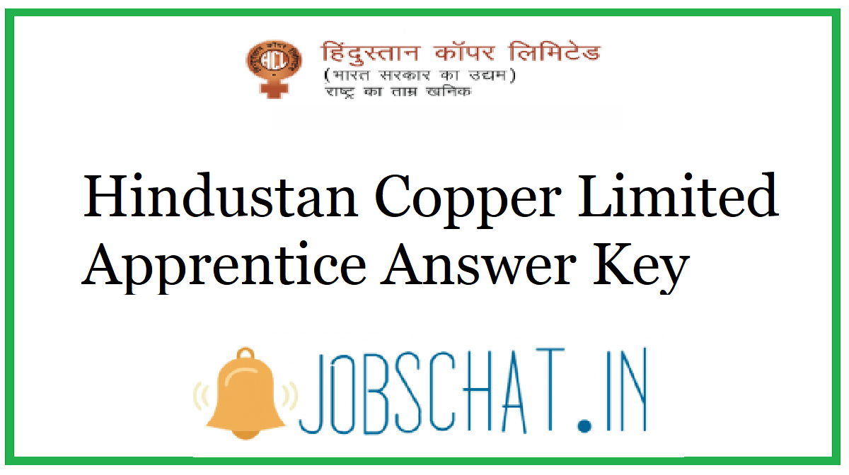 Hindustan Copper Limited Apprentice Answer Key
