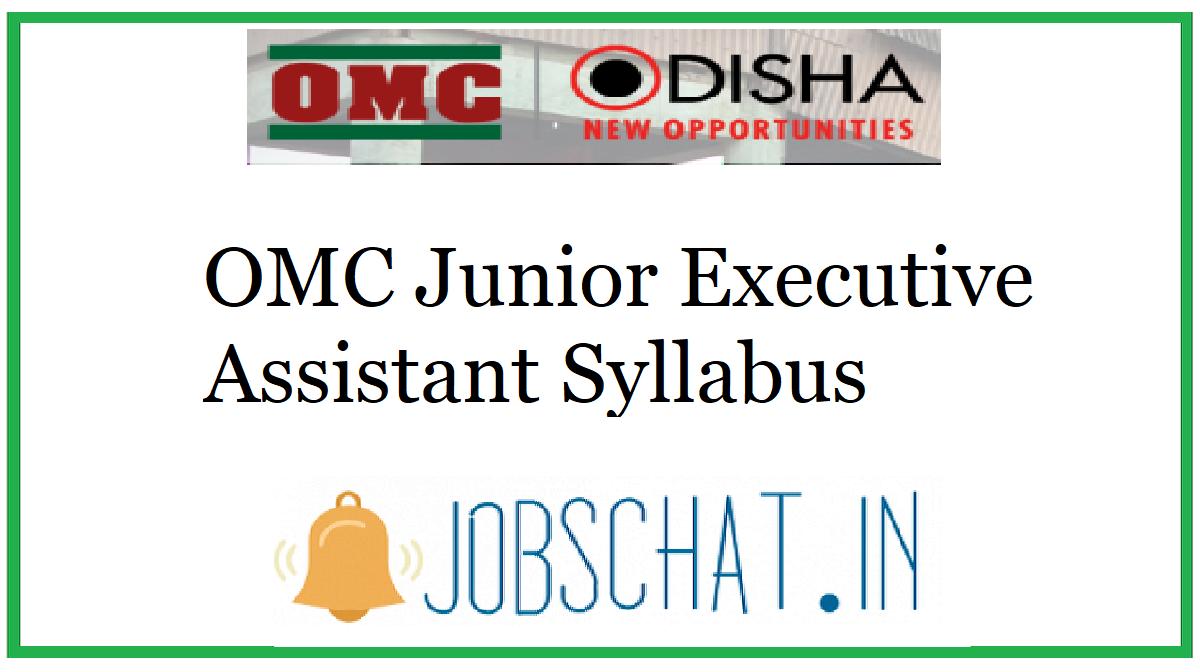 OMC Junior Executive Assistant Syllabus