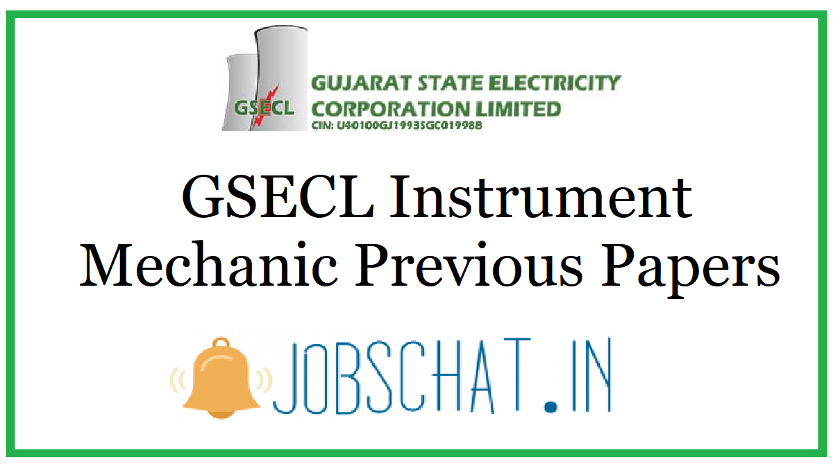 GSECL Instrument Mechanic Previous Papers