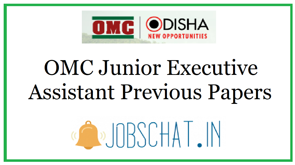 OMC Junior Executive Assistant Previous Papers