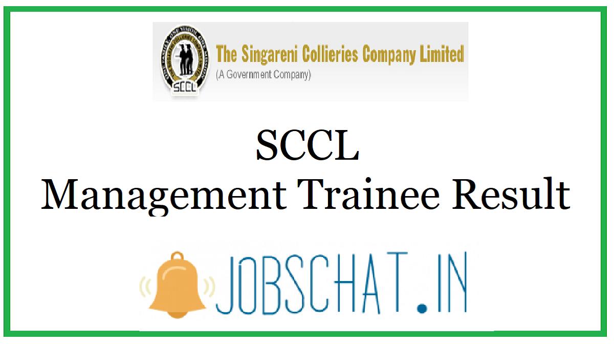 SCCL Management Trainee Result