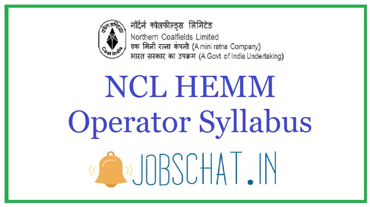 NCL HEMM Operator Syllabus