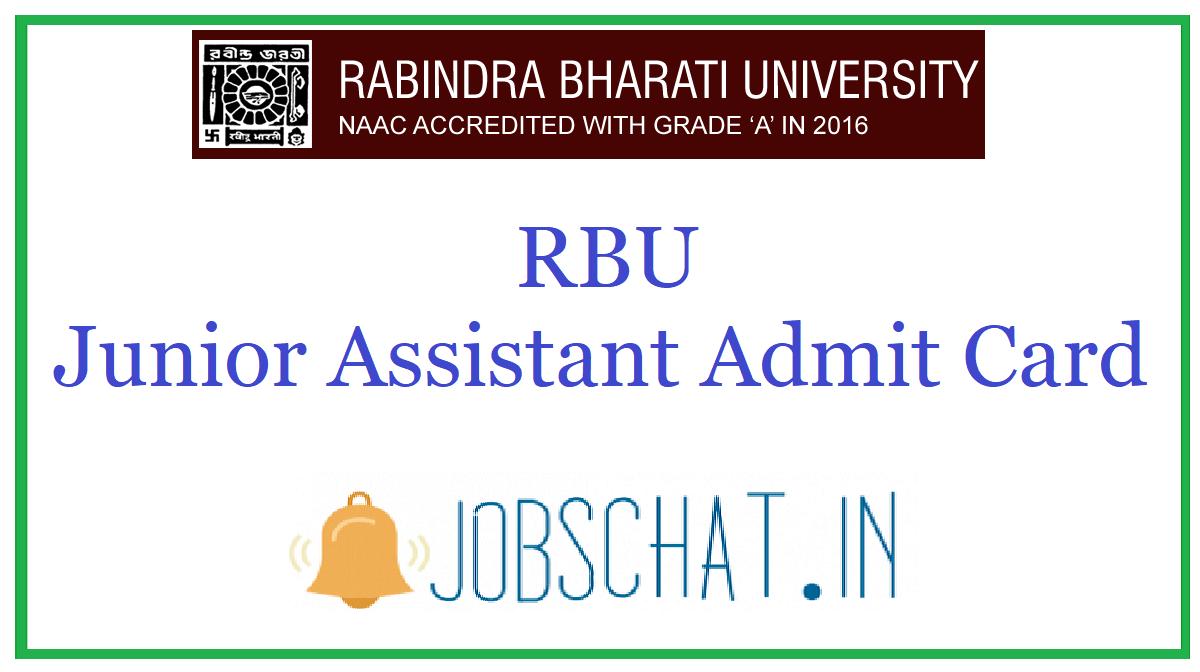 RBU Junior Assistant Admit Card