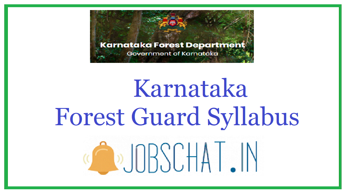 Karnataka Forest Guard Syllabus