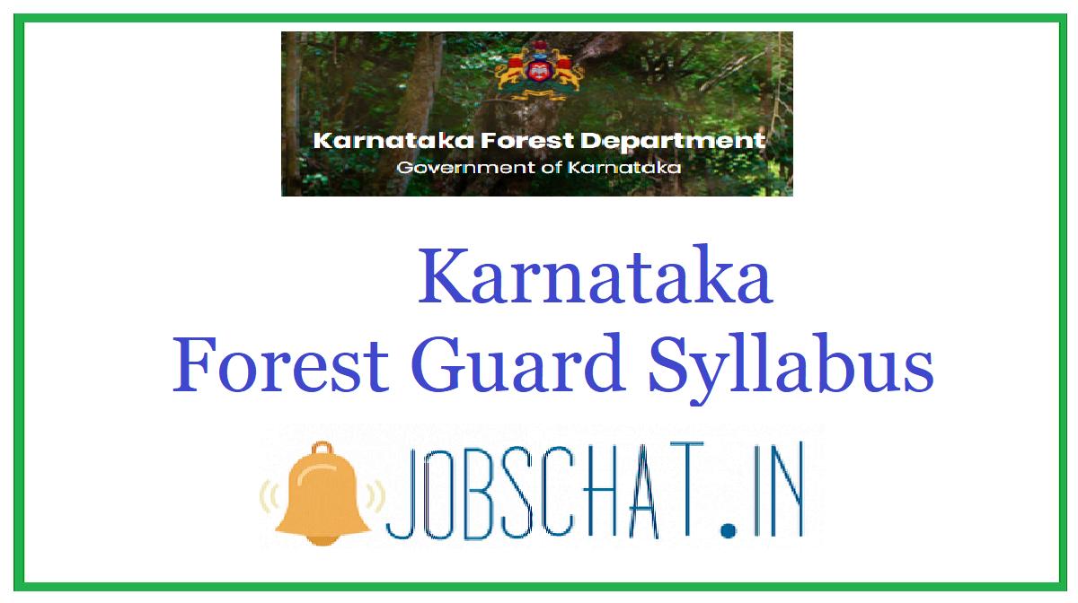 Karnataka Forest Guard Syllabus