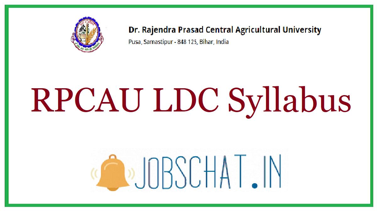 RPCAU LDC Syllabus