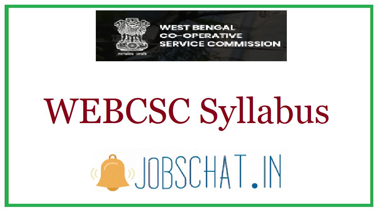 WEBCSC Syllabus