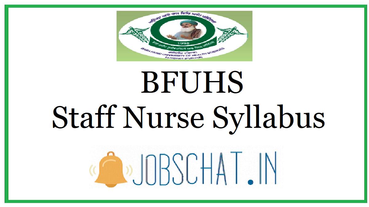 BFUHS Staff Nurse Syllabus