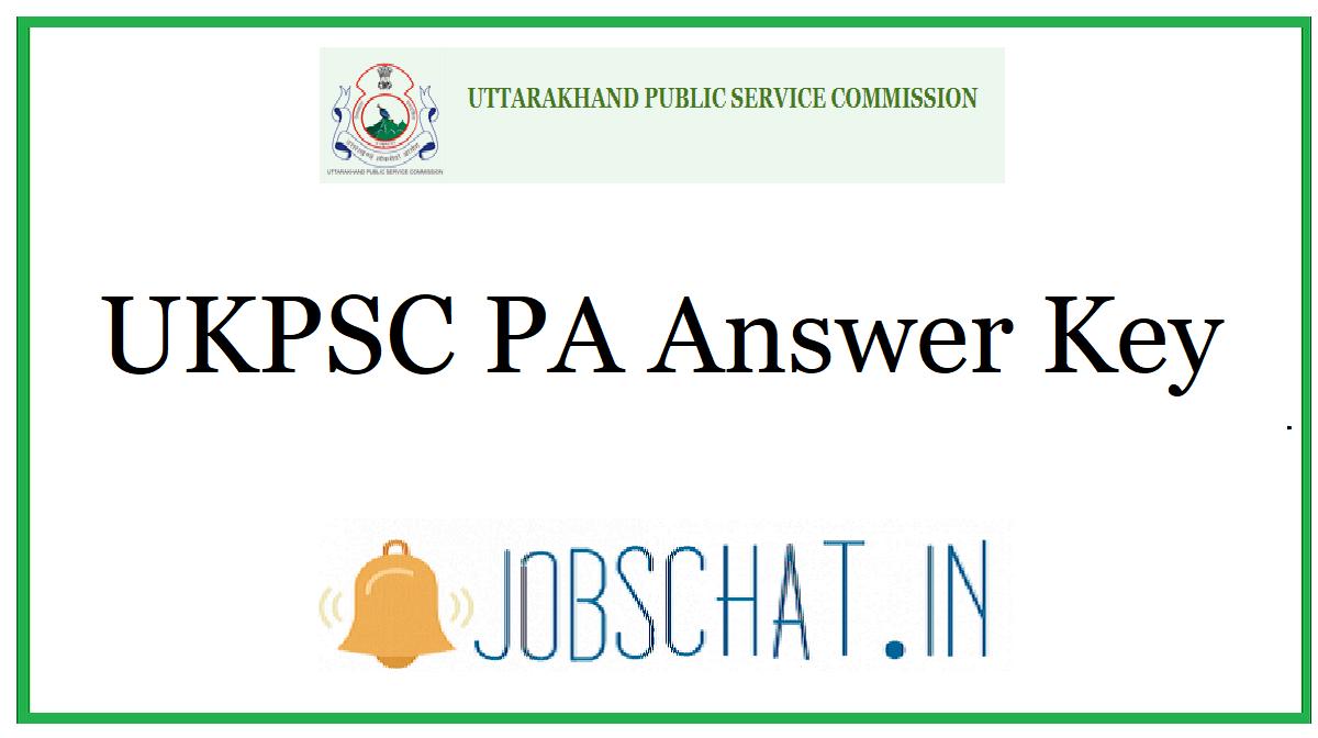 UKPSC PA Answer Key