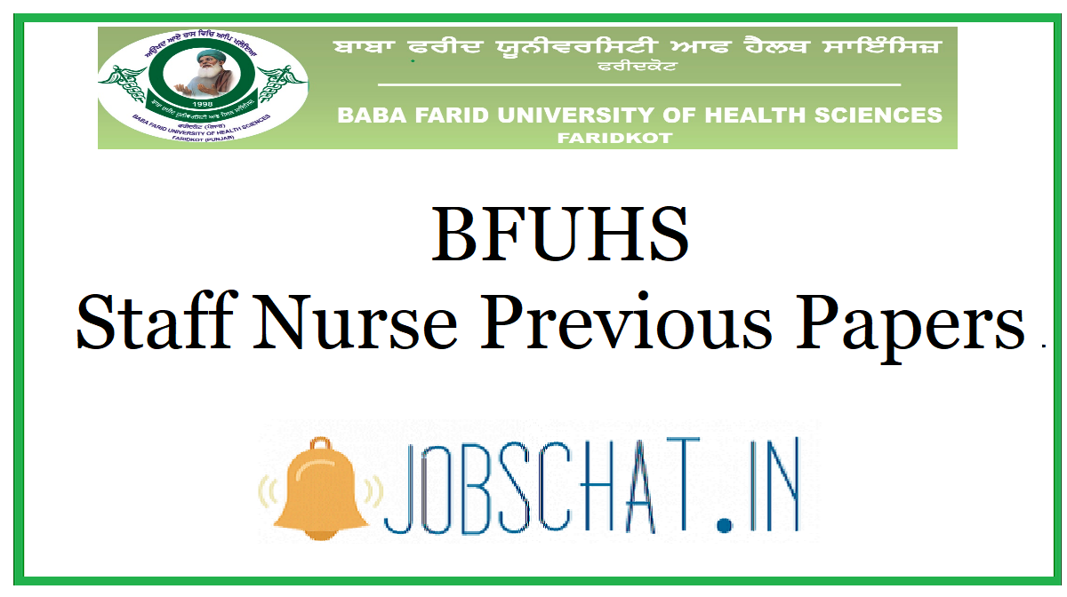 BFUHS Staff Nurse Previous Papers