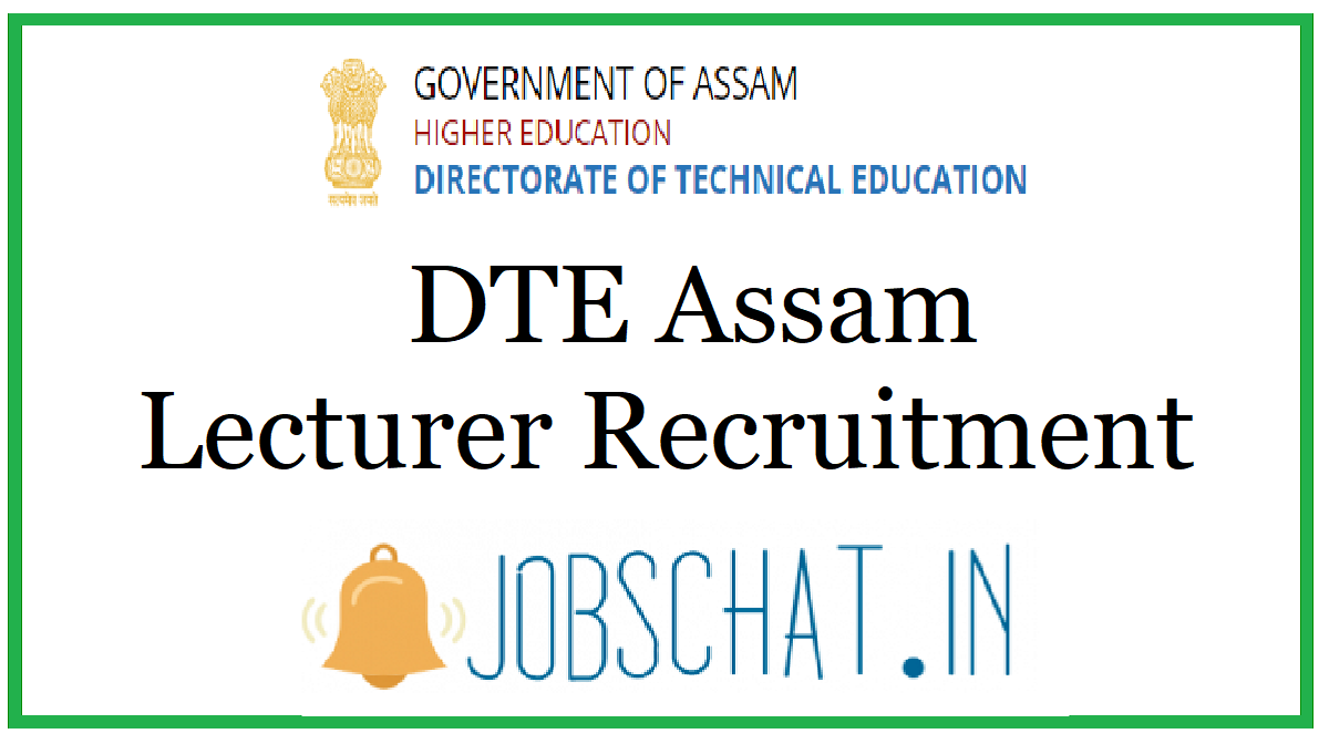 DTE Assam Lecturer Recruitment