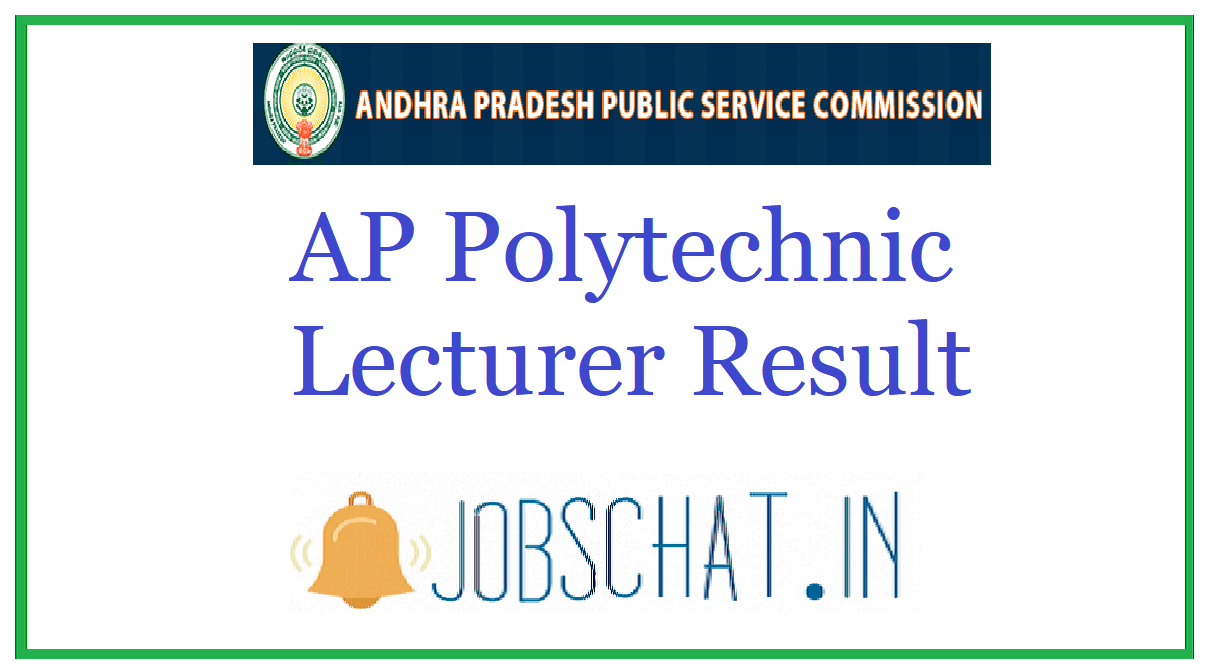 AP Polytechnic Lecturer Result