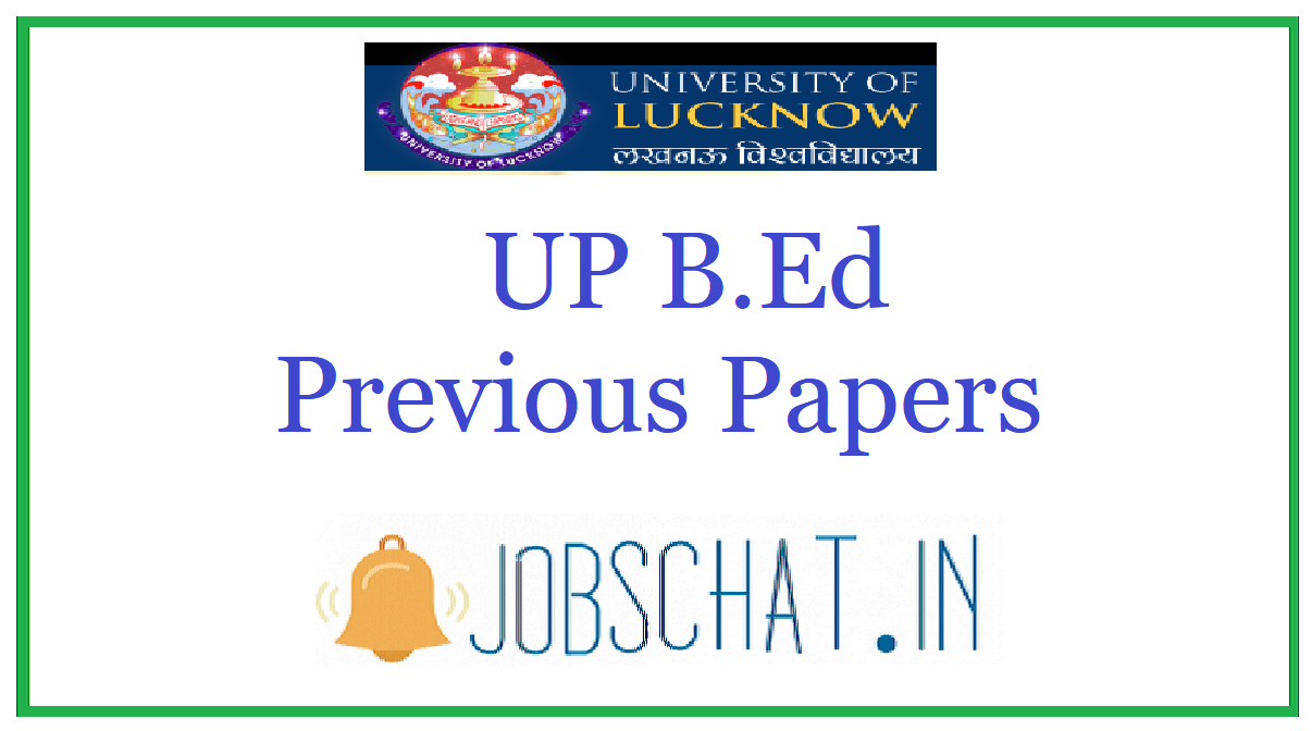 UP B.Ed Previous Papers