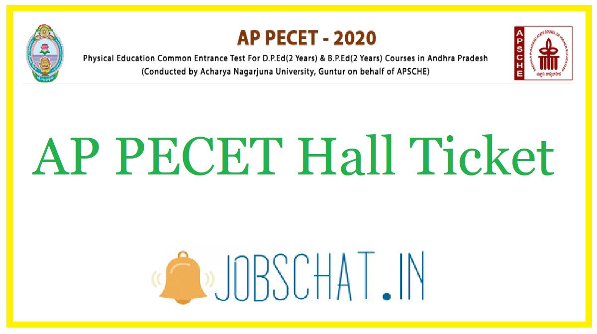 AP PECET Hall Ticket