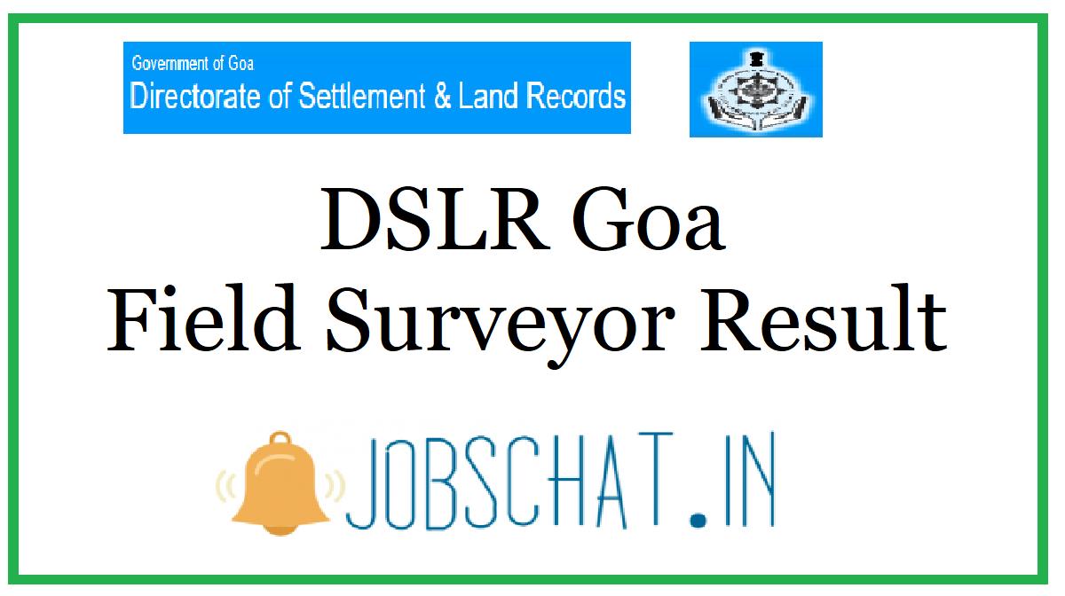 DSLR Goa Field Surveyor Result