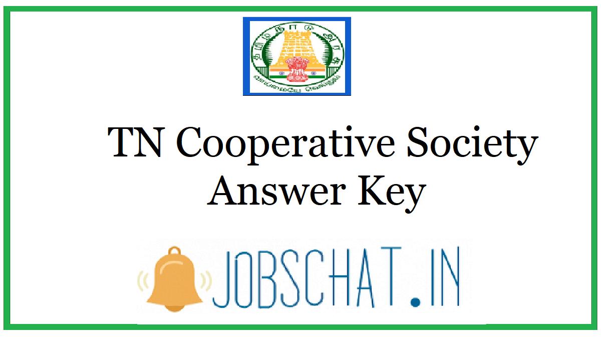 TN Cooperative Society Answer Key