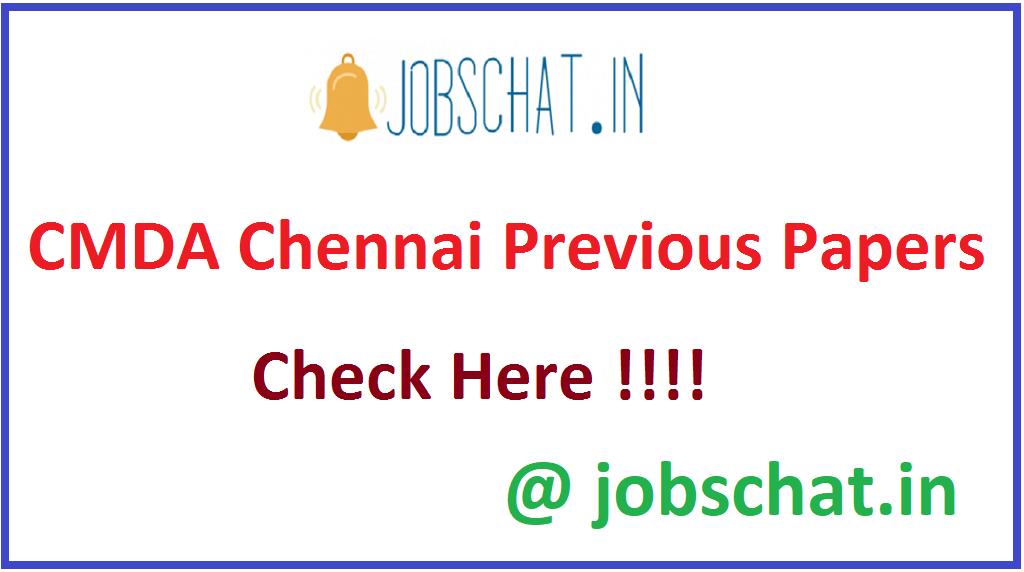 CMDA Chennai Previous Papers