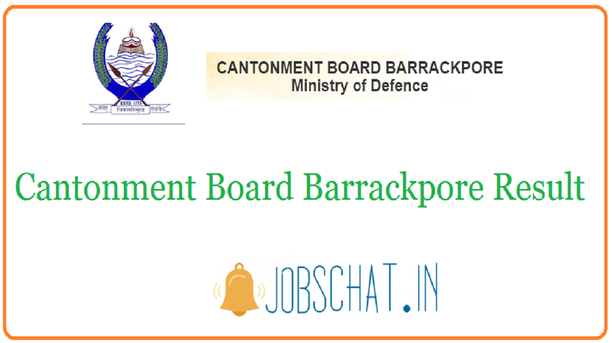 Cantonment Board Barrackpore Result