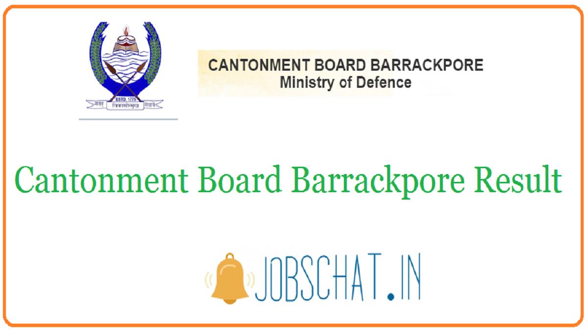 Cantonment Board Barrackpore Result