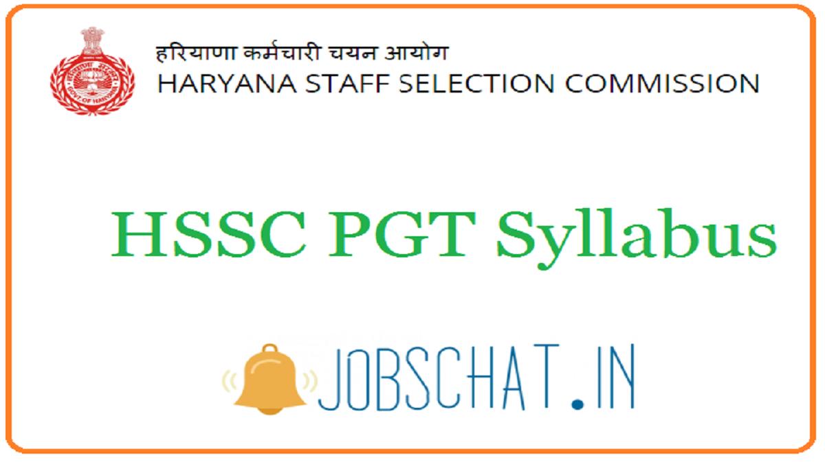 HSSC PGT Syllabus