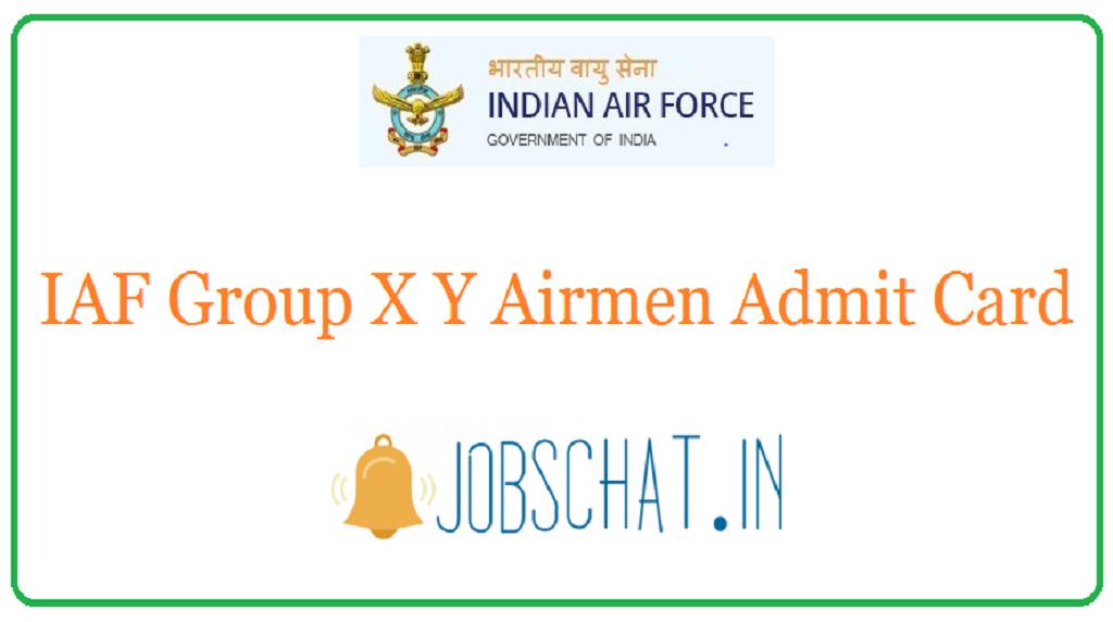 IAF Group X Y Airmen Admit Card