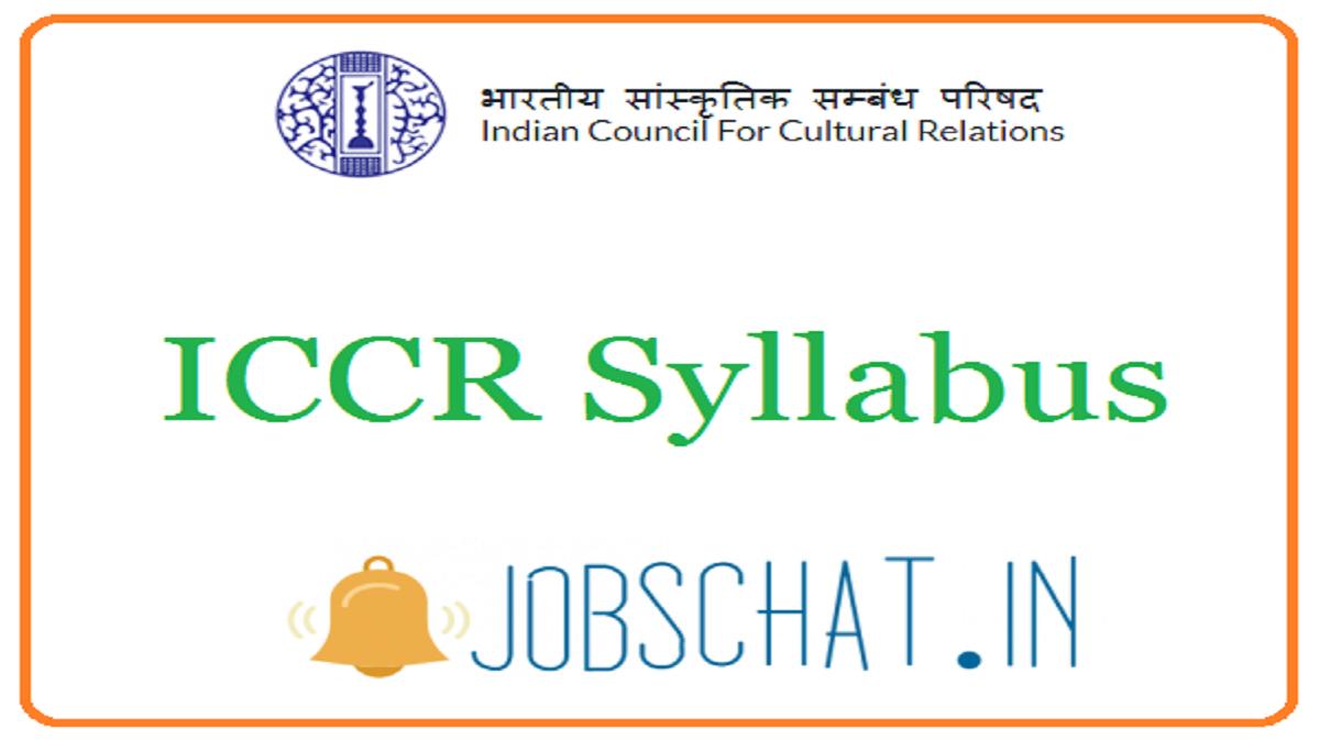 ICCR Syllabus
