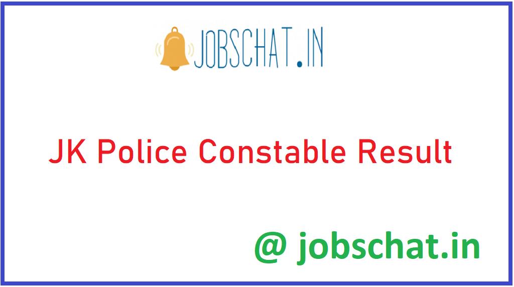 JK Police Constable Result