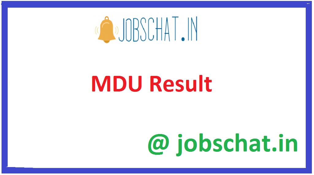 MDU Result