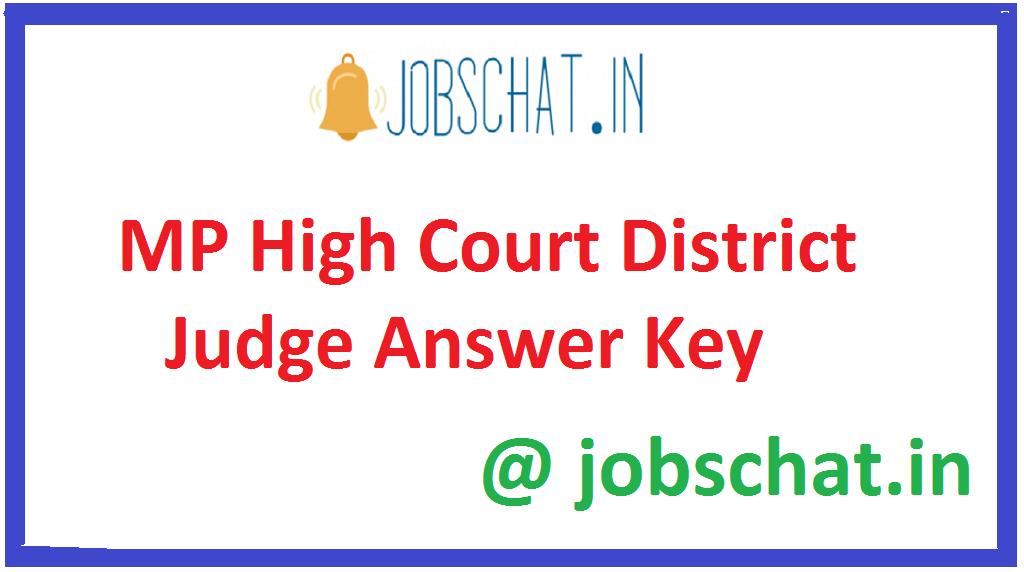 MP High Court District Judge Answer Key