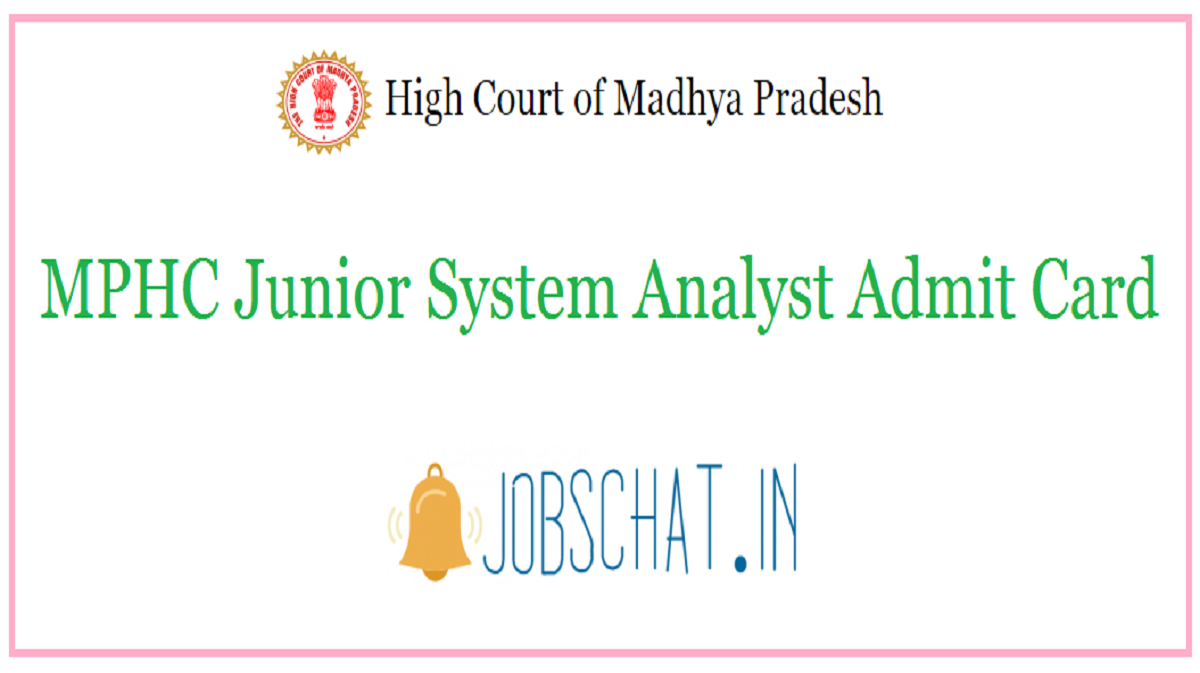 MPHC Junior System Analyst Admit Card
