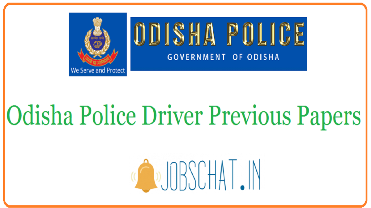 Odisha Police Driver Previous Papers