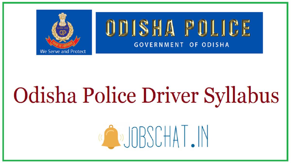 Odisha Police Driver Syllabus