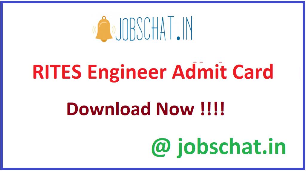 RITES Engineer Admit Card
