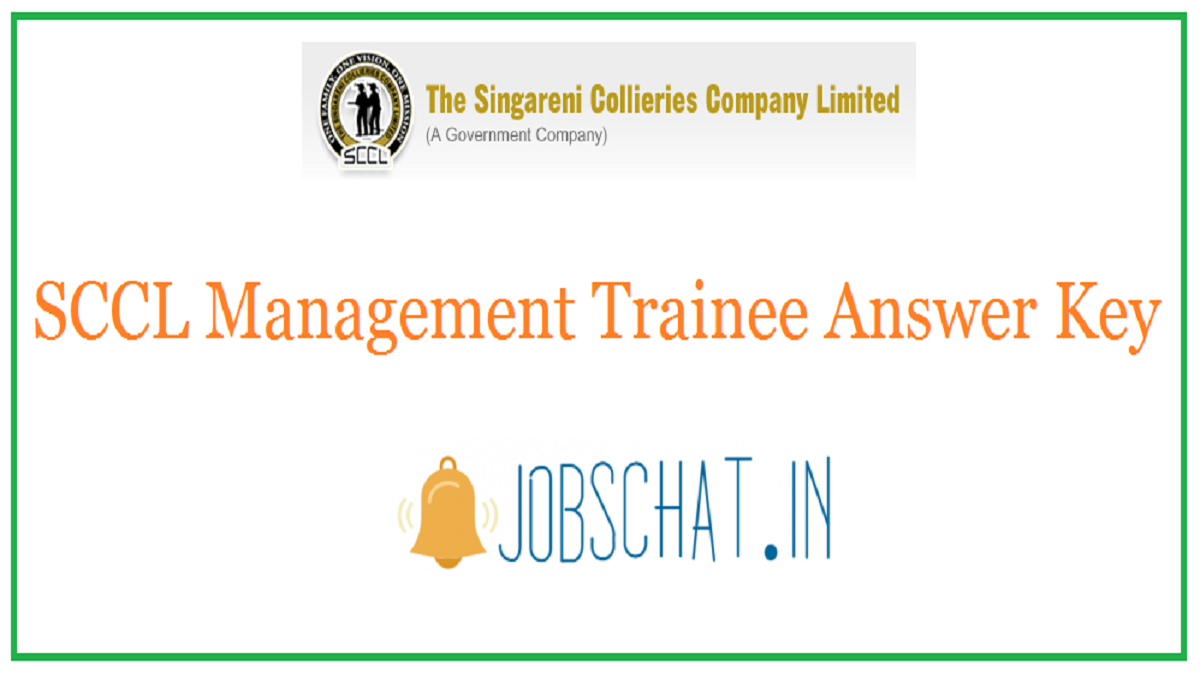 SCCL Management Trainee Answer Key