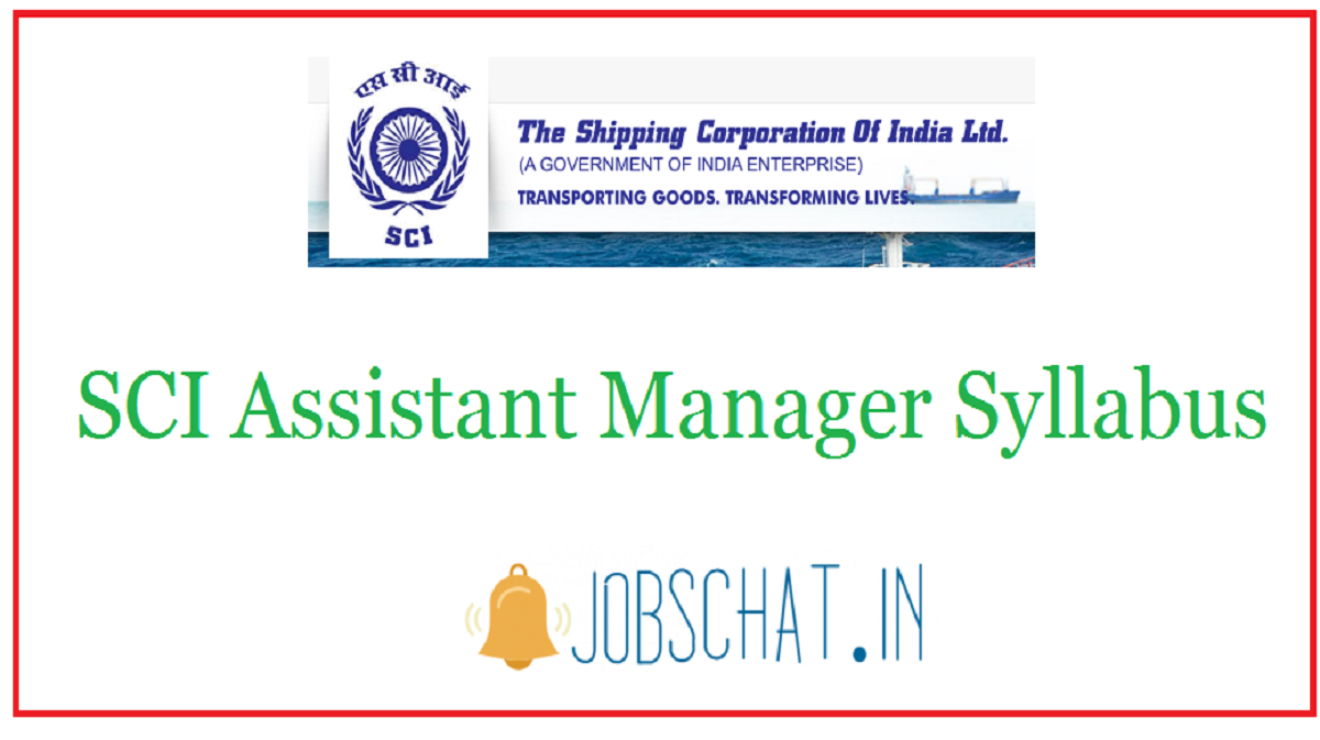 SCI Assistant Manager Syllabus