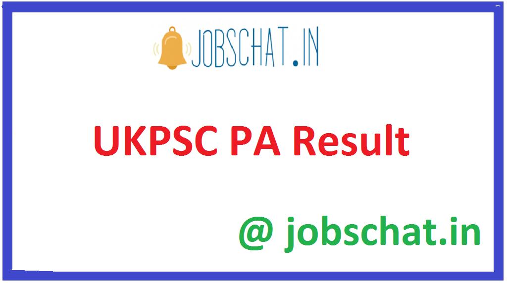 UKPSC PA Result