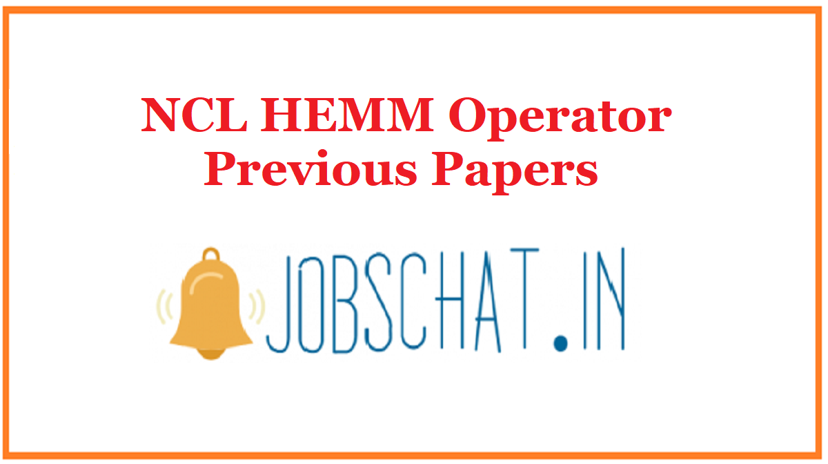 NCL HEMM Operator Previous Papers