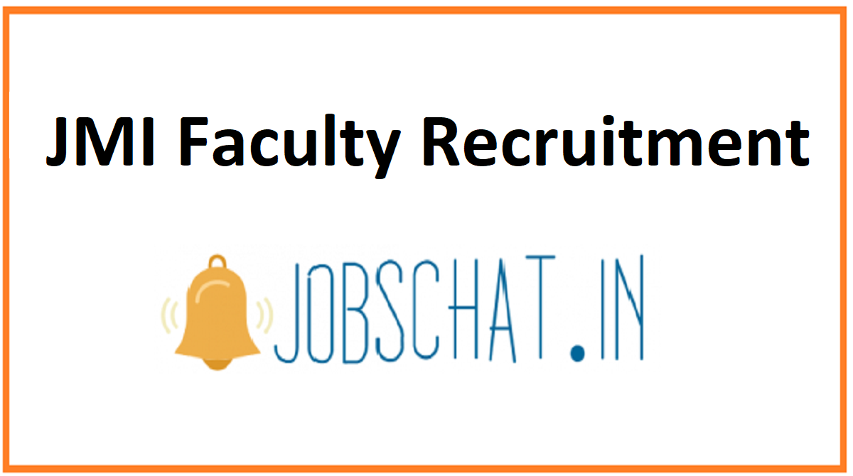 JMI Faculty Recruitment