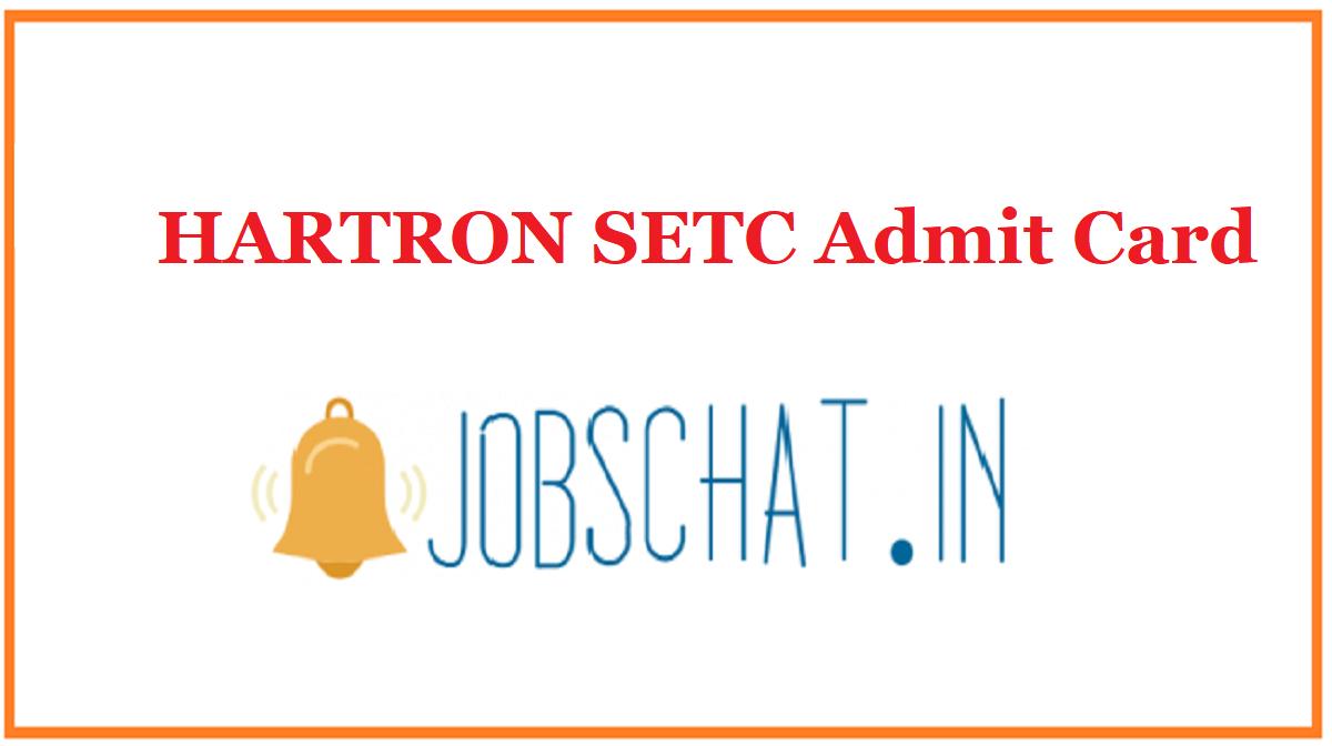 HARTRON SETC Admit Card