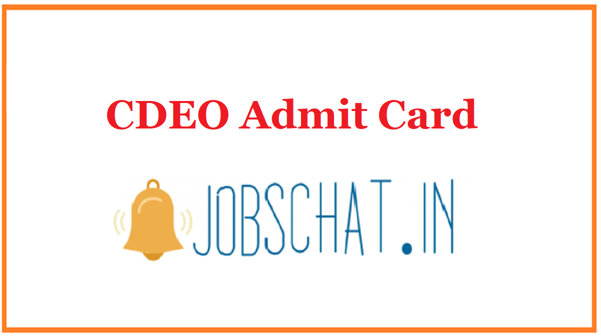 CDEO Admit Card