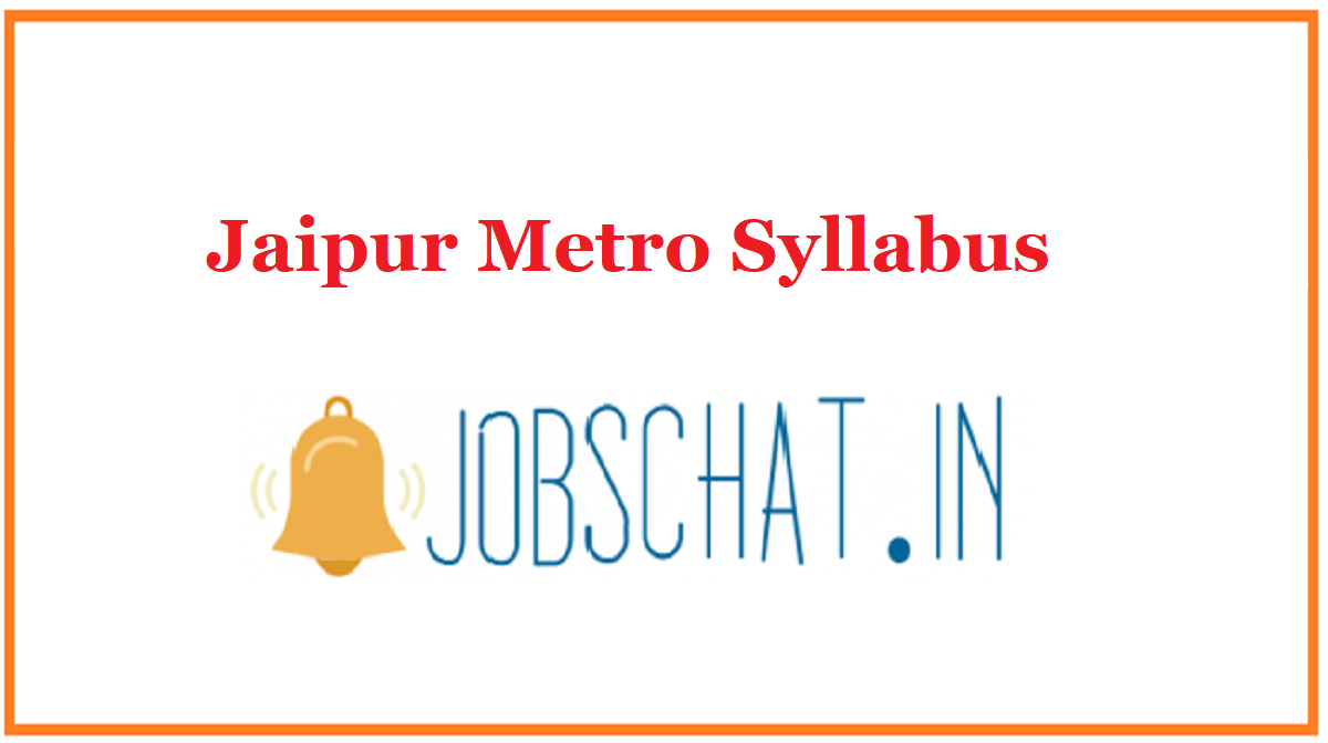 Jaipur Metro Syllabus