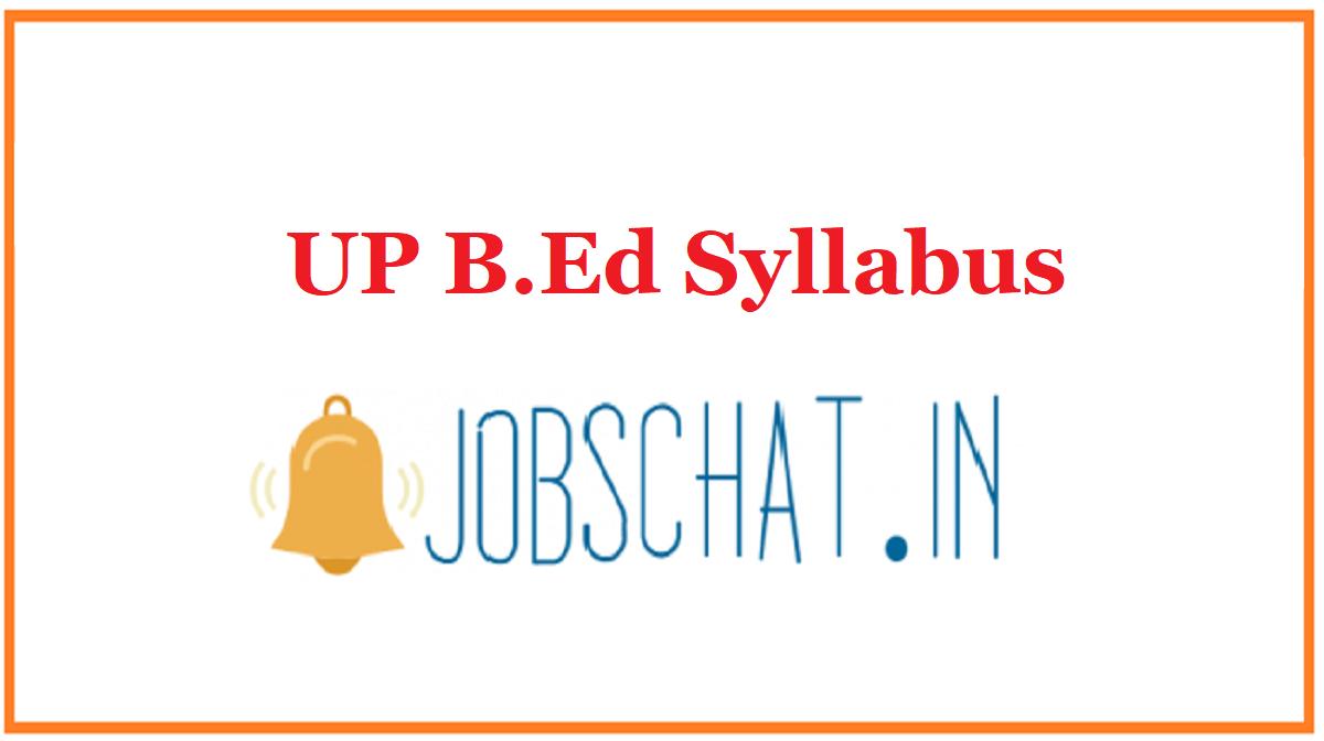 UP B.Ed Syllabus