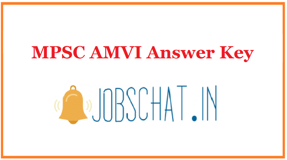 MPSC AMVI Answer Key