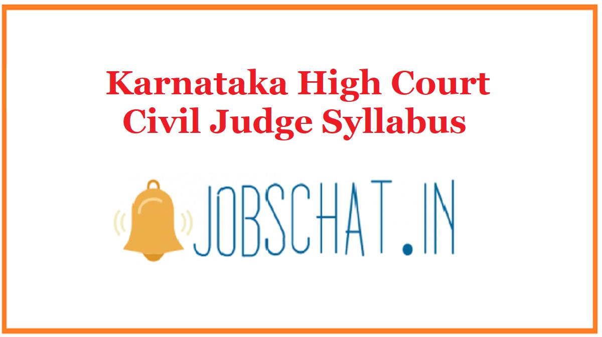 Karnataka High Court Civil Judge Syllabus