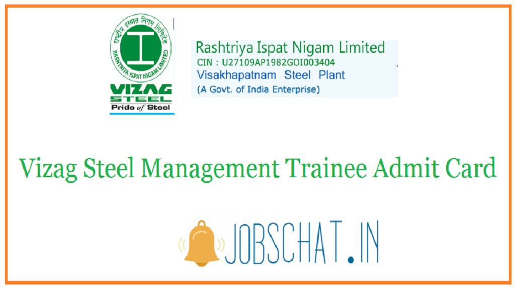 Vizag Steel Management Trainee Admit Card