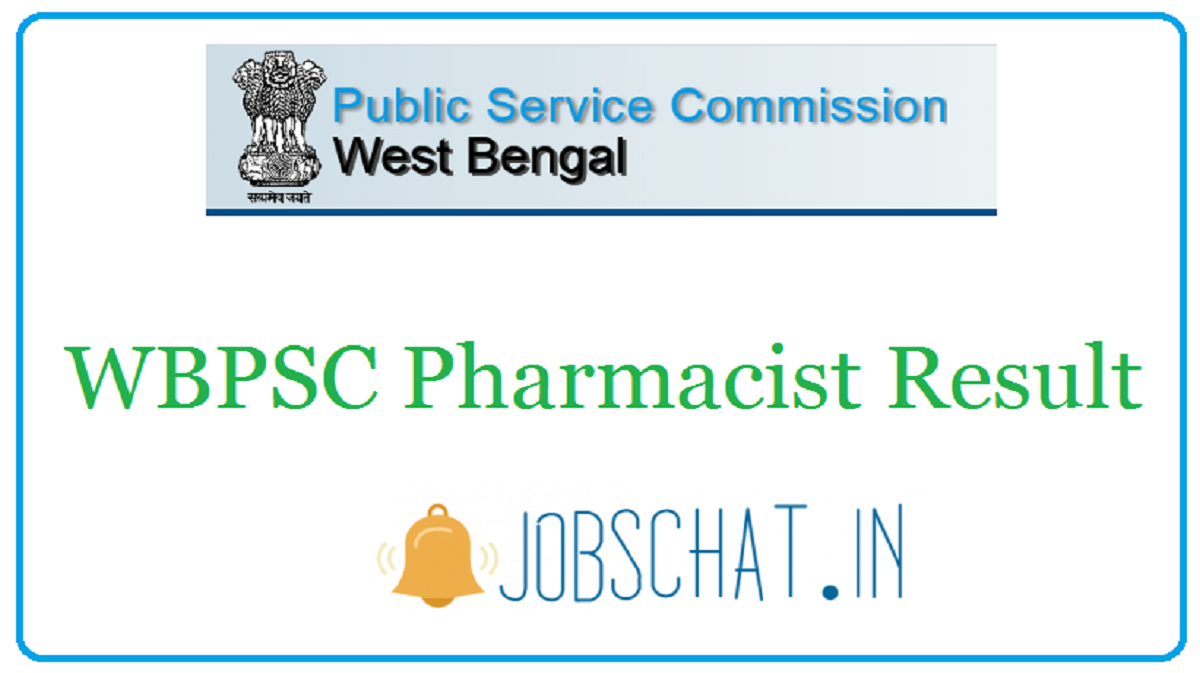 WBPSC Pharmacist Result