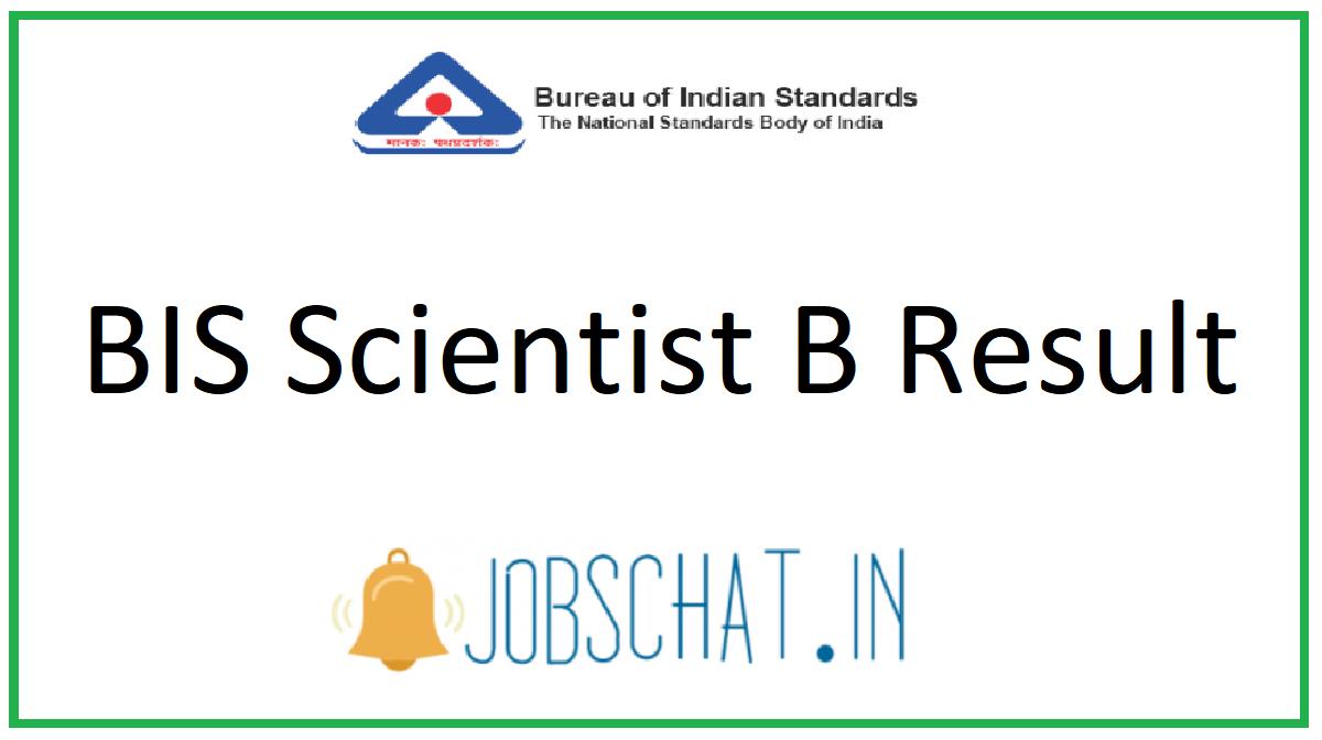 BIS Scientist B Result