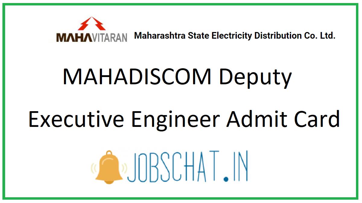 MAHADISCOM Deputy Executive Engineer Admit Card